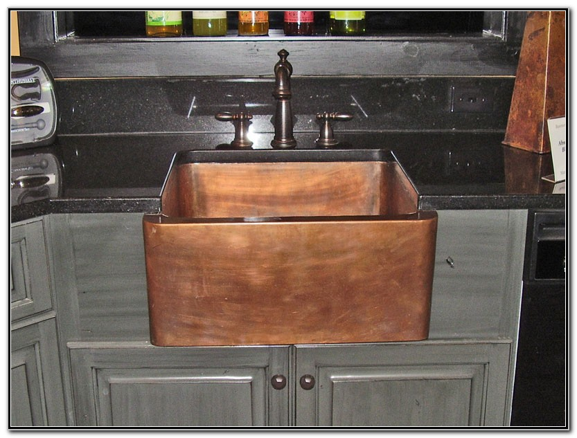 Hammered Copper Apron Farmhouse Sink