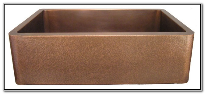 Hammered Copper Apron Kitchen Sinks