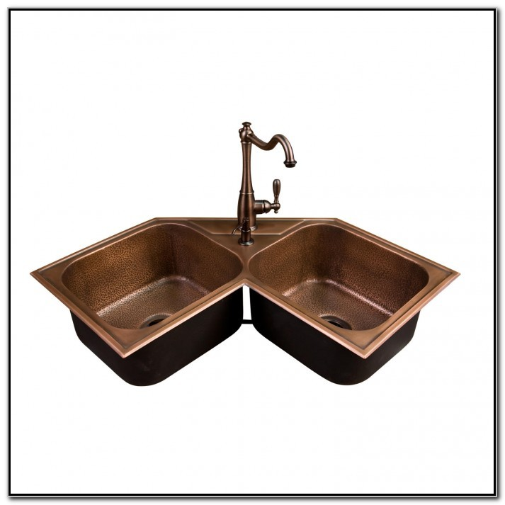 Hammered Copper Double Kitchen Sink