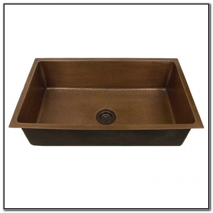 Hammered Copper Kitchen Sink Undermount