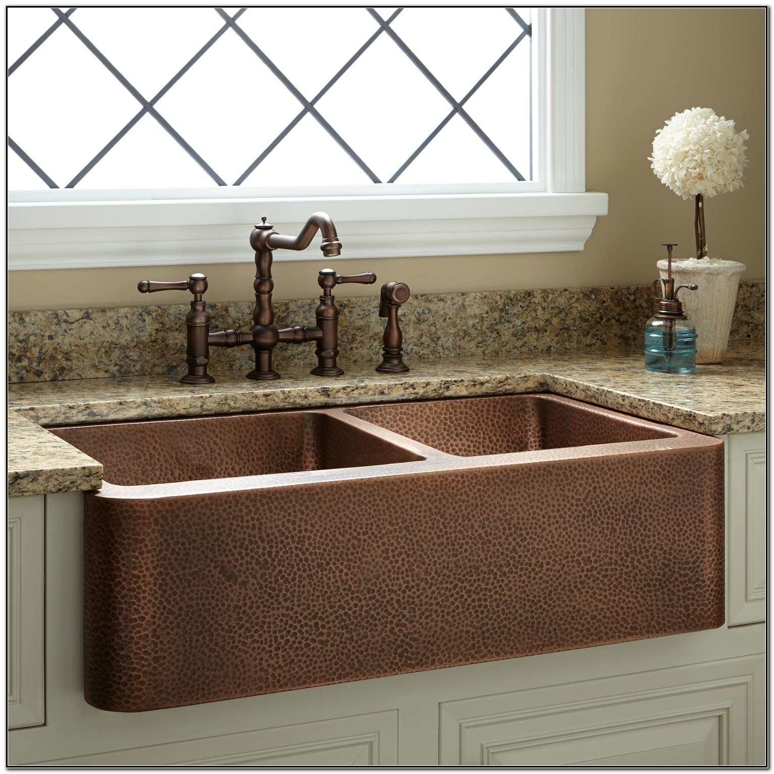 Hammered Copper Kitchen Sink