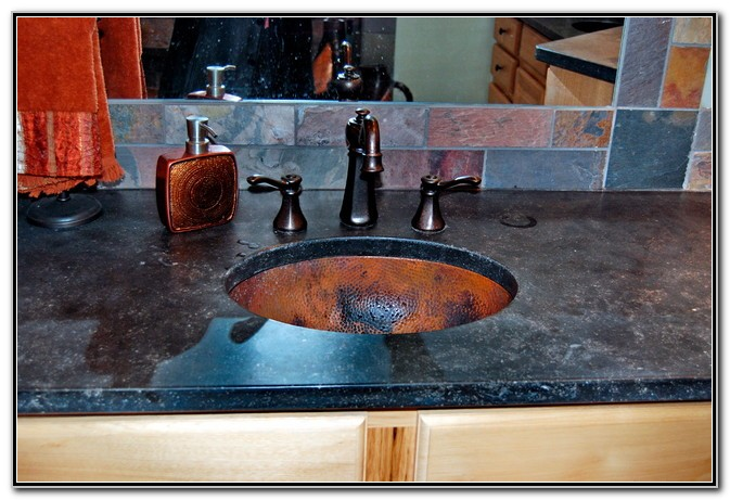 Hammered Copper Undermount Bathroom Sink