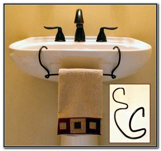 Harmon Towel Bar Pedestal Sink