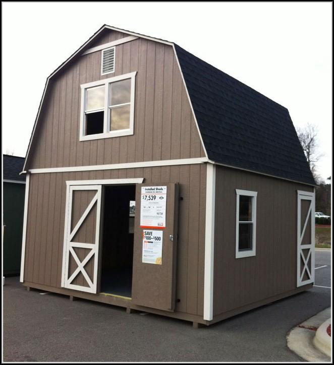 Home Depot Wood Storage Sheds