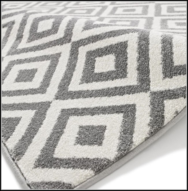 Ikea Grey And White Rug
