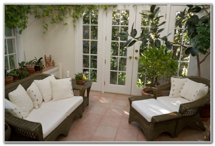 Indoor Wicker Furniture For Sunroom