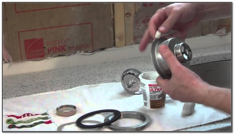 Kitchen Sink Basket Strainer Install