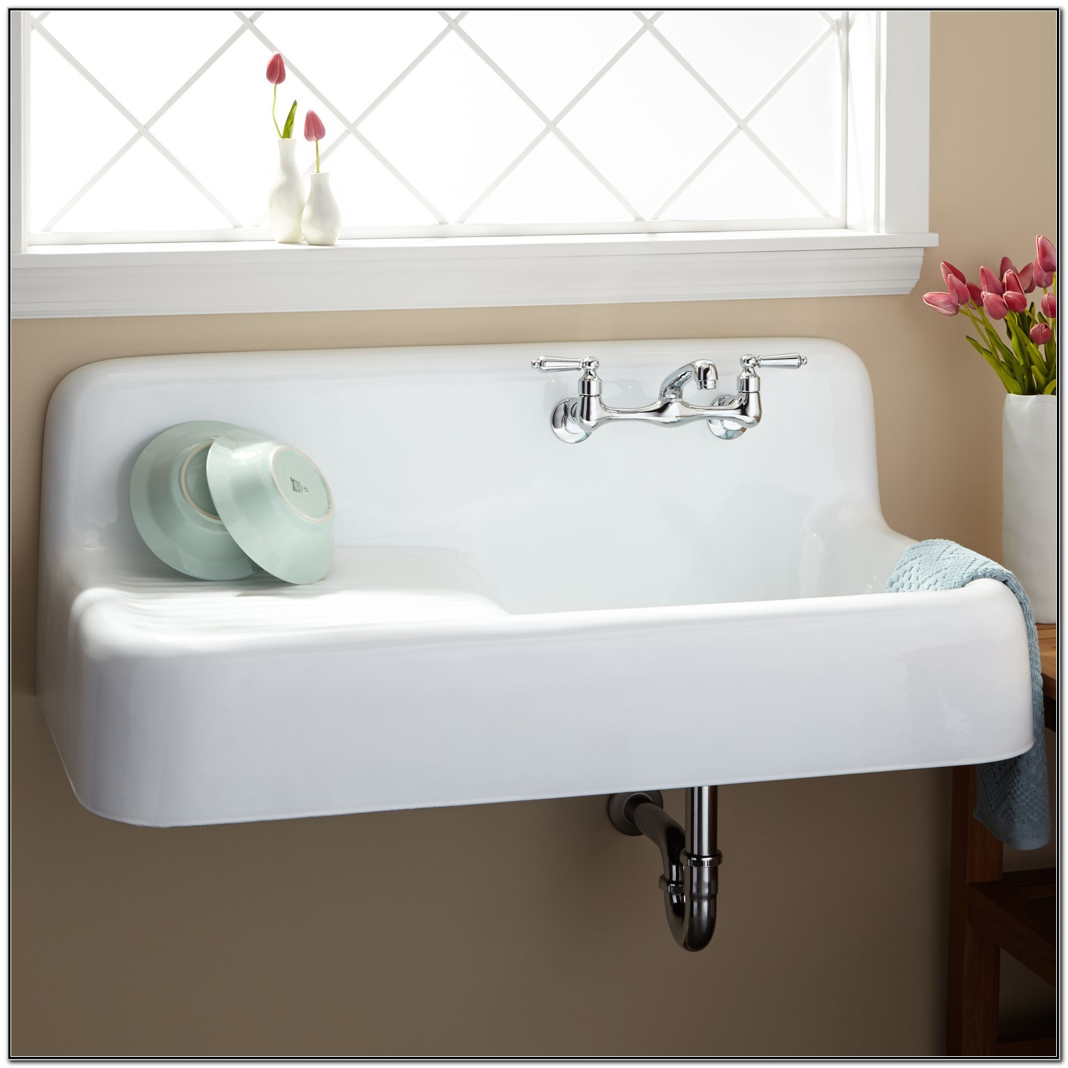 Kitchen Sink With Drainboard Cast Iron
