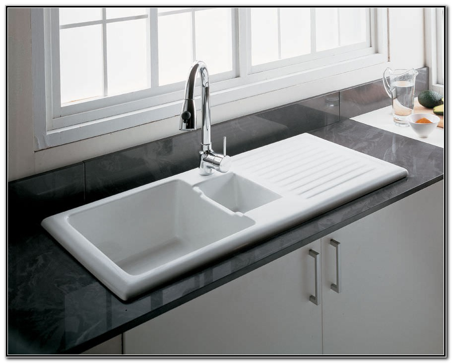 Kitchen Sink With Drainboard Porcelain