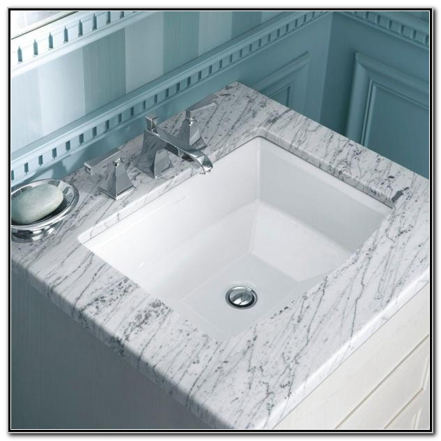 Kohler Archer Undermount Bathroom Sink In White