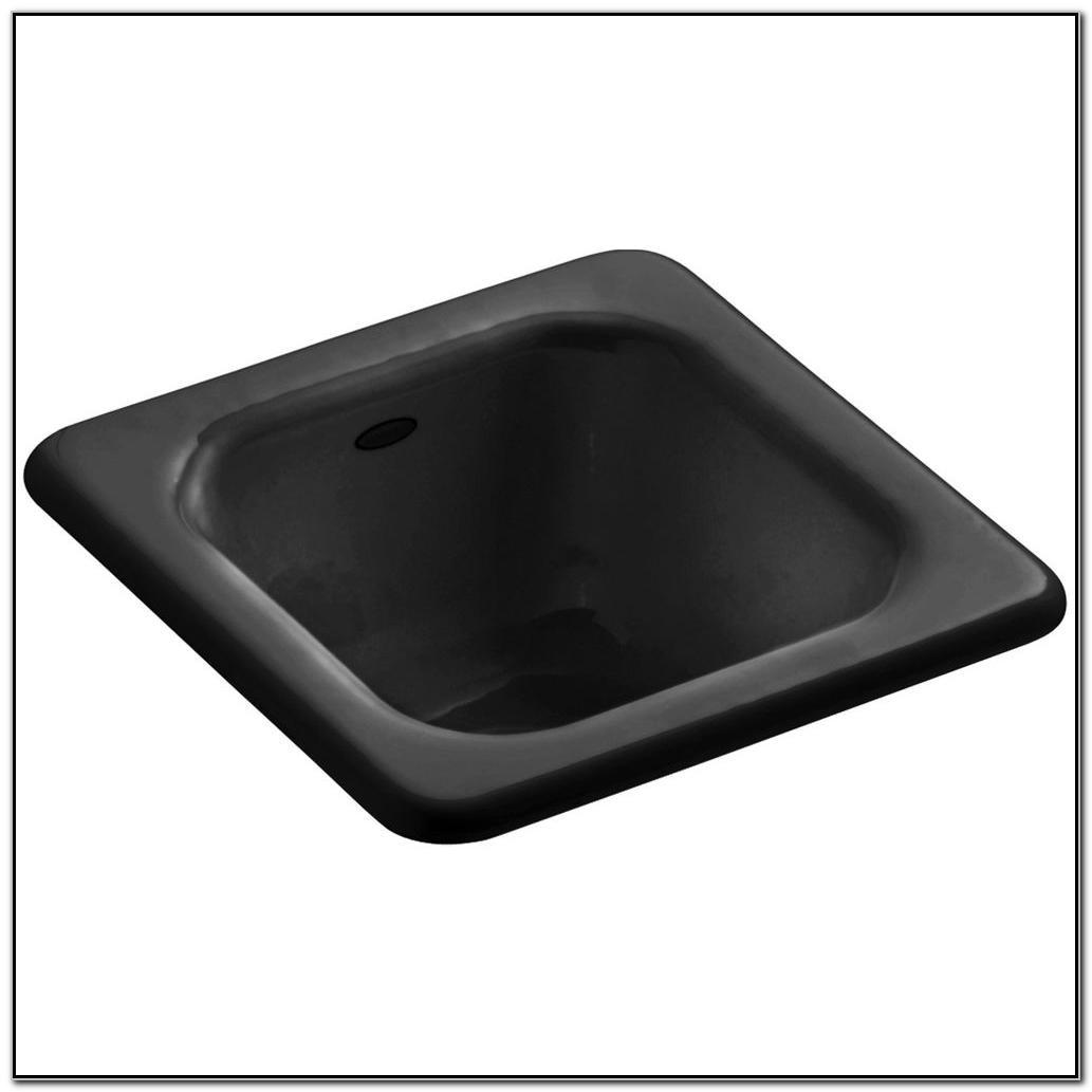 Kohler Cast Iron Sink Black