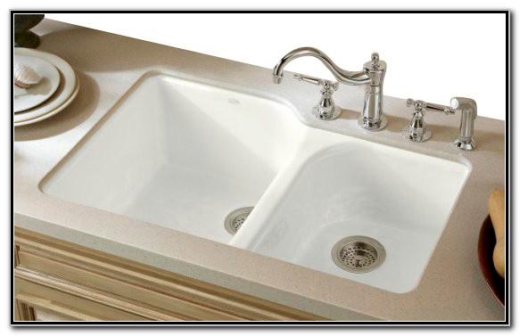 Kohler Cast Iron Undermount Kitchen Sink