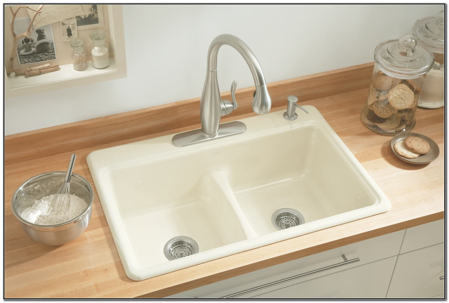 Kohler Kitchen Sink Faucets White
