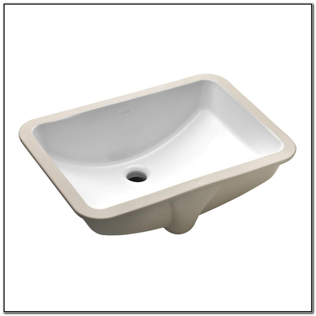 Kohler Ladena Undermount Bathroom Sink In White