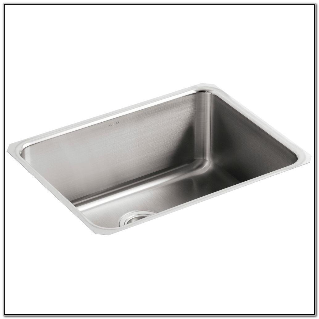 Kohler Single Basin Stainless Steel Kitchen Sink
