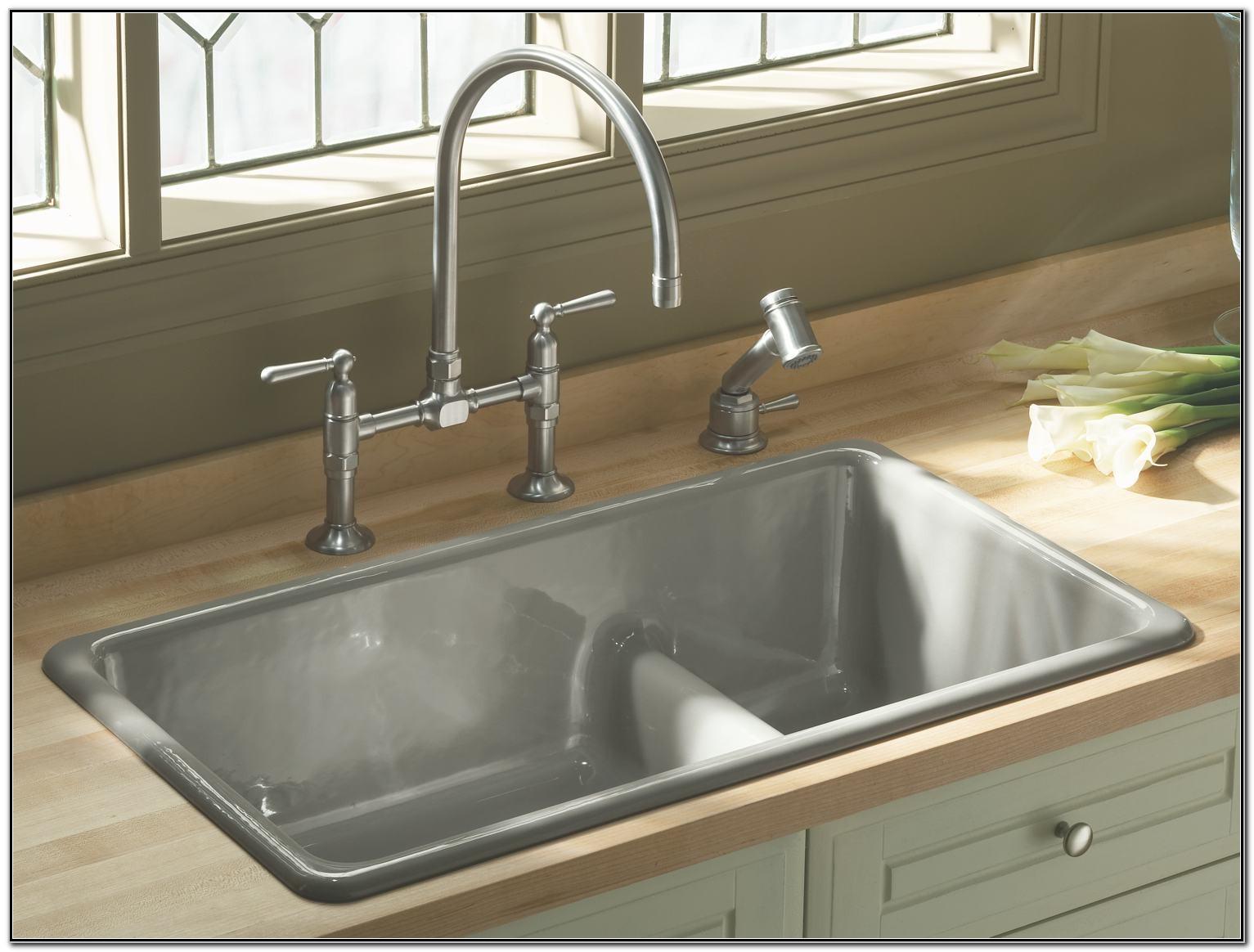 Kohler Undermount White Kitchen Sink