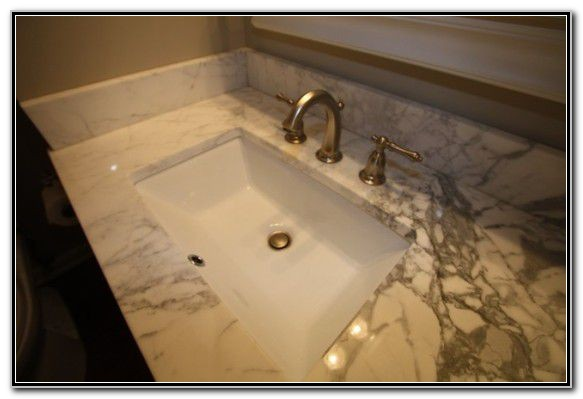 Large Rectangular Undermount Bathroom Sink