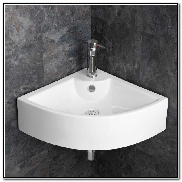 Large Wall Mounted Corner Sink