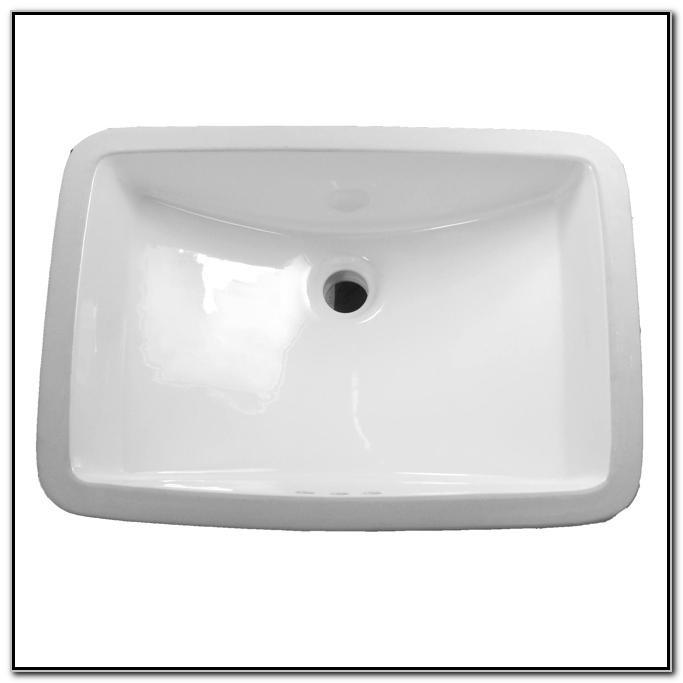 Large White Undermount Bathroom Sink