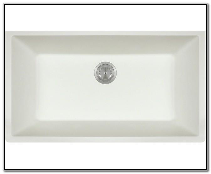 Large White Undermount Kitchen Sink