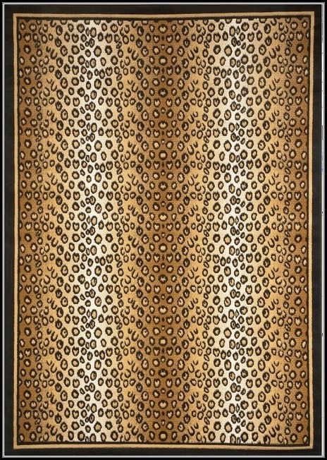 Leopard Area Rug 5x7