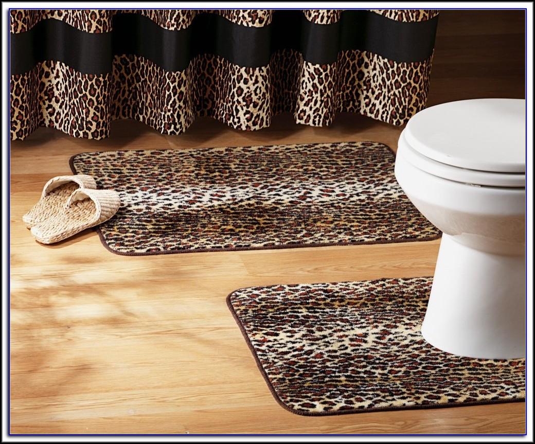 Leopard Print Bathroom Rugs
