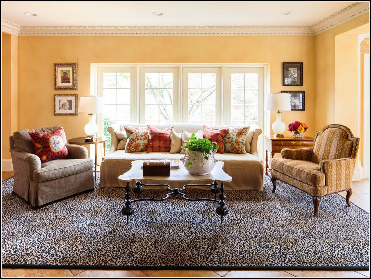 leopard print rug living room  rugs  home decorating