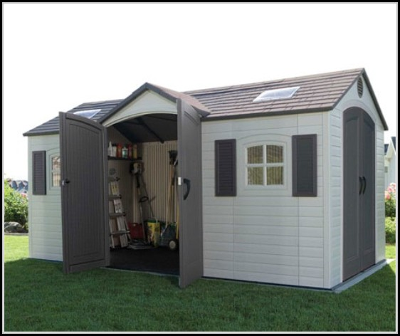 Lifetime Dual Entry Outdoor Storage Shed
