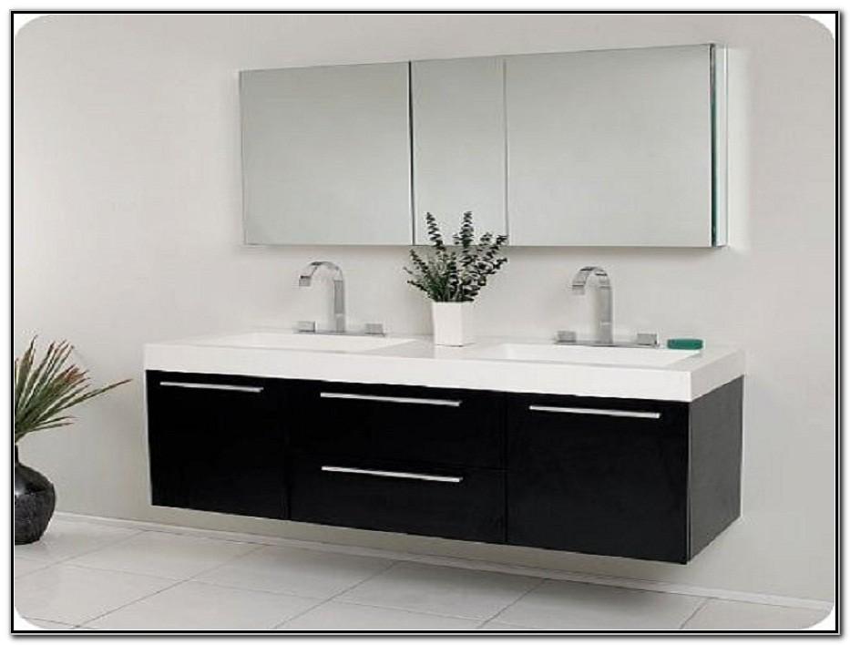 Modern Double Sink Bathroom Vanity Cabinets