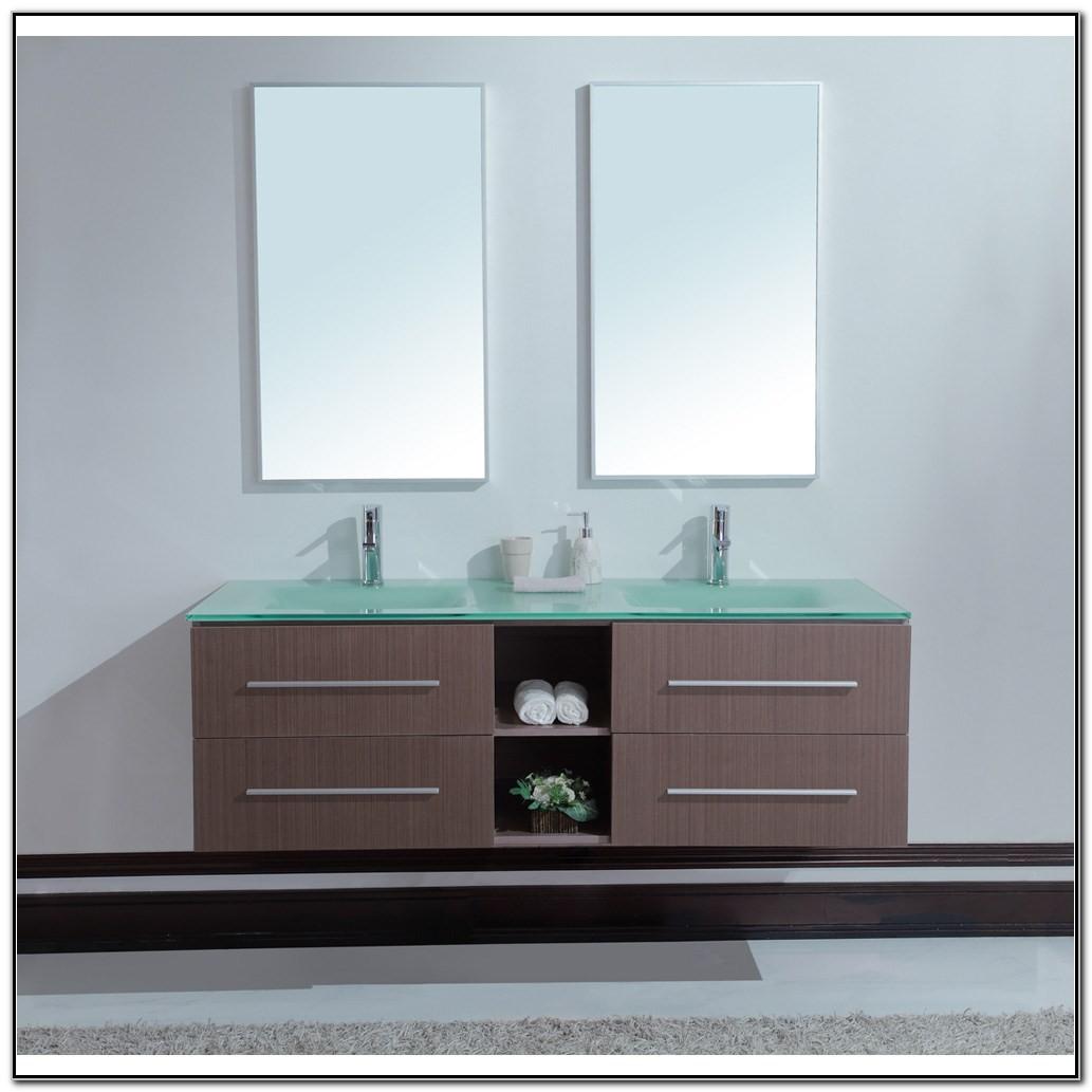 Modern Double Sink Vanity Bathroom