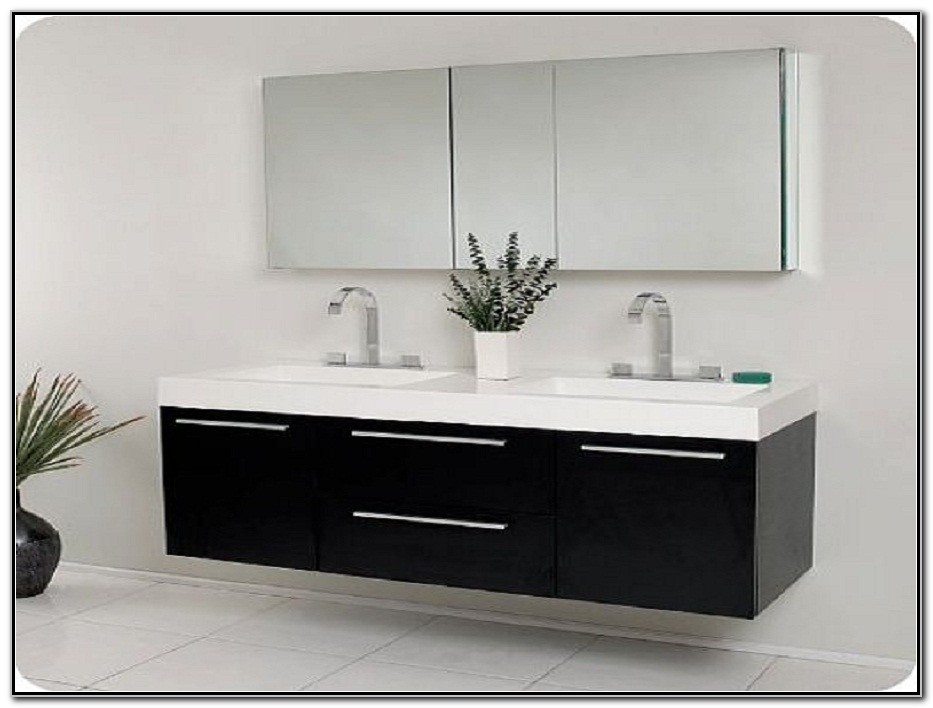 Modern Double Sink Vanity Cabinets