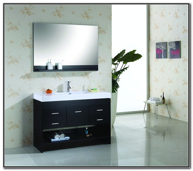 Modern Single Sink Bathroom Vanity