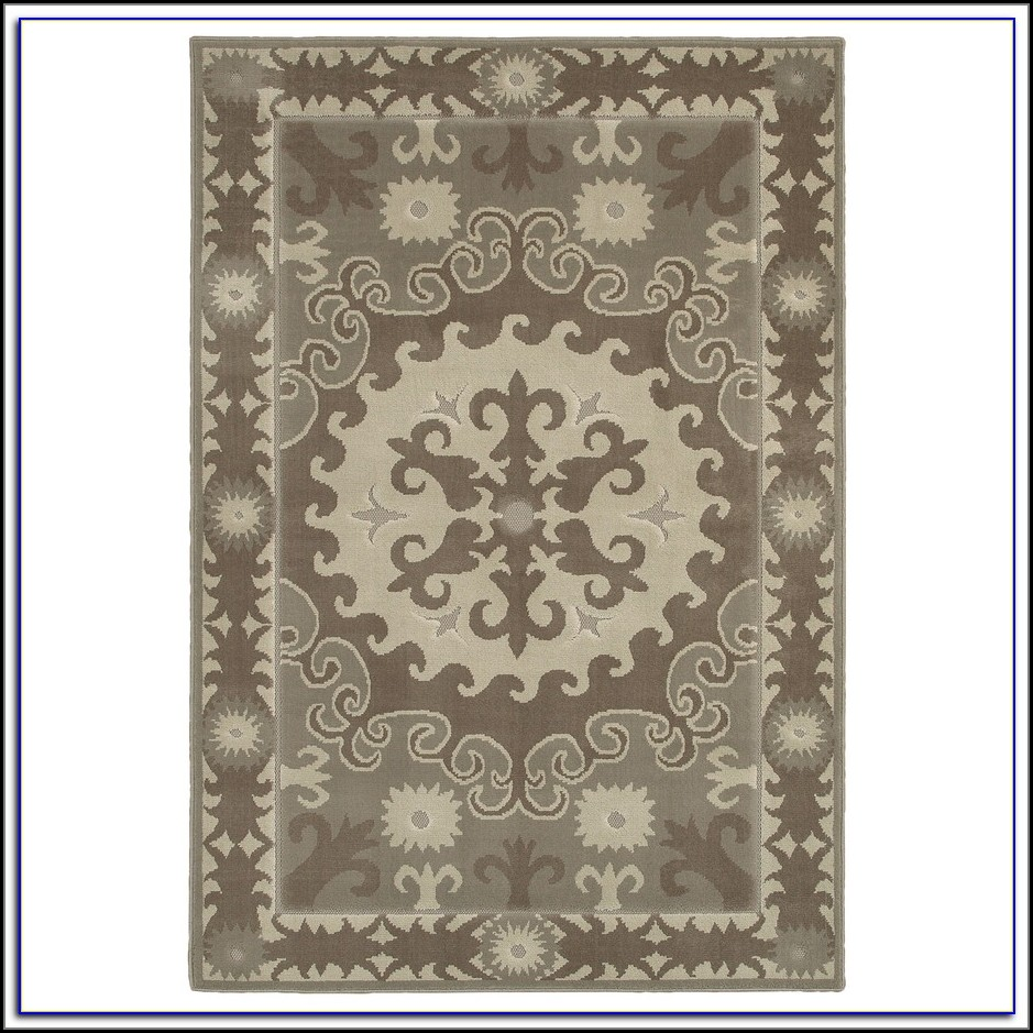 Mohawk Home Flowers Area Rug Cocoa Praline Rugs Home