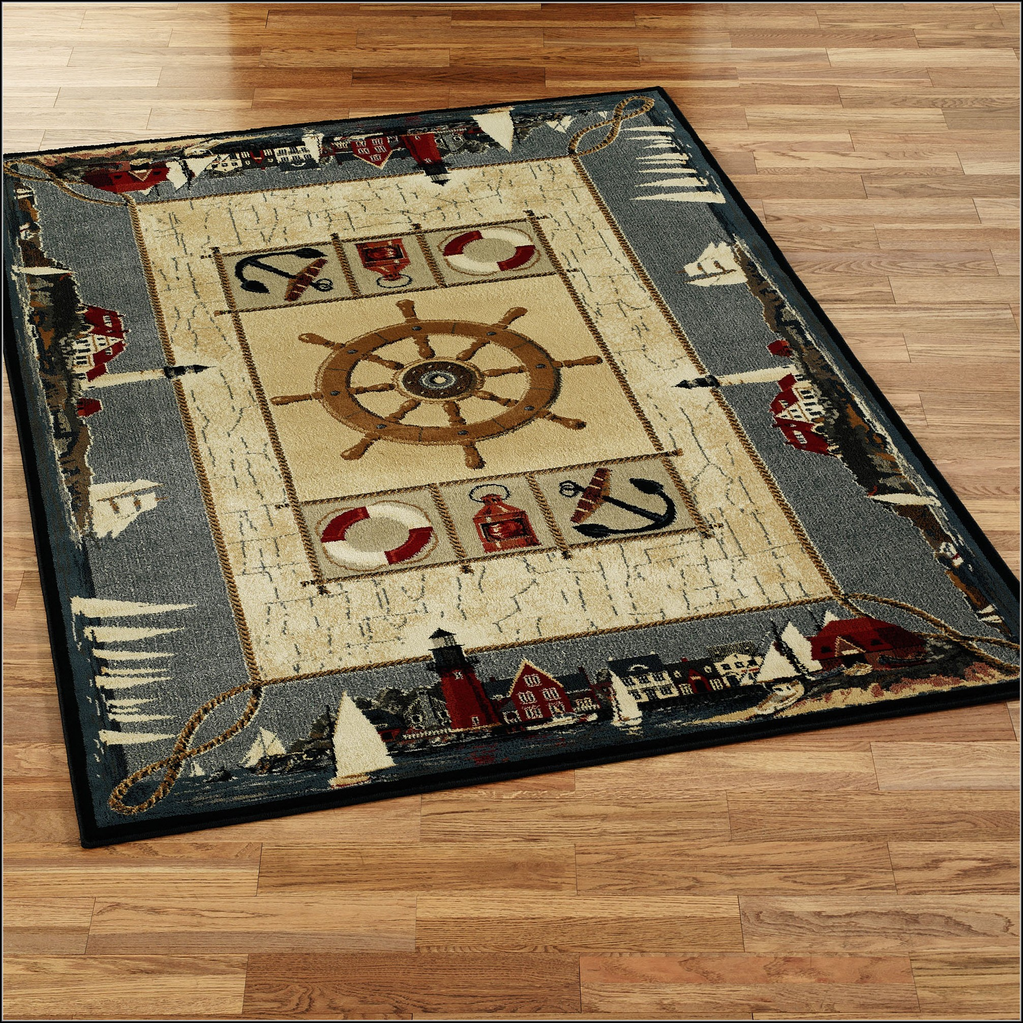 Nautical Area Rugs 8x10