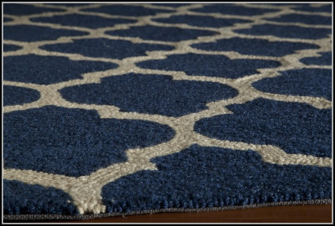 Navy And Grey Area Rug