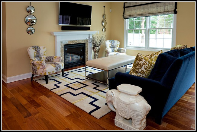 Navy And Yellow Area Rug
