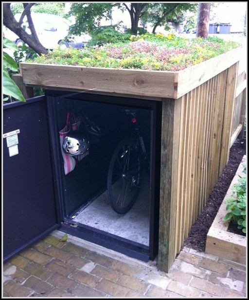 Outdoor Bicycle Storage Shed