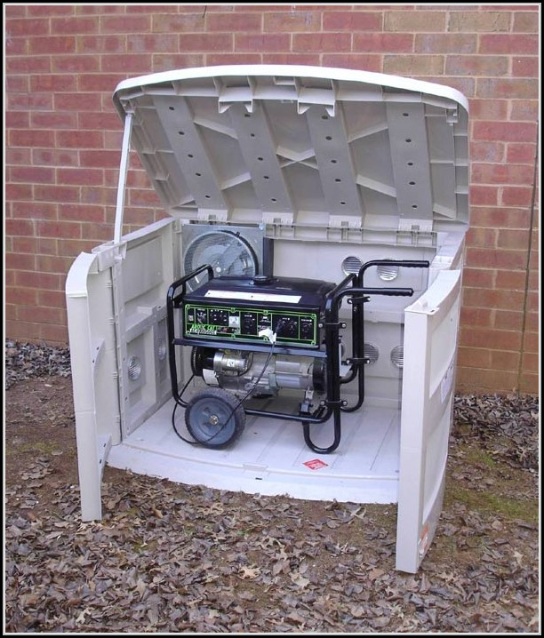 Outdoor Shed For Portable Generator