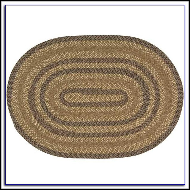 Oval Braided Rugs 5x7