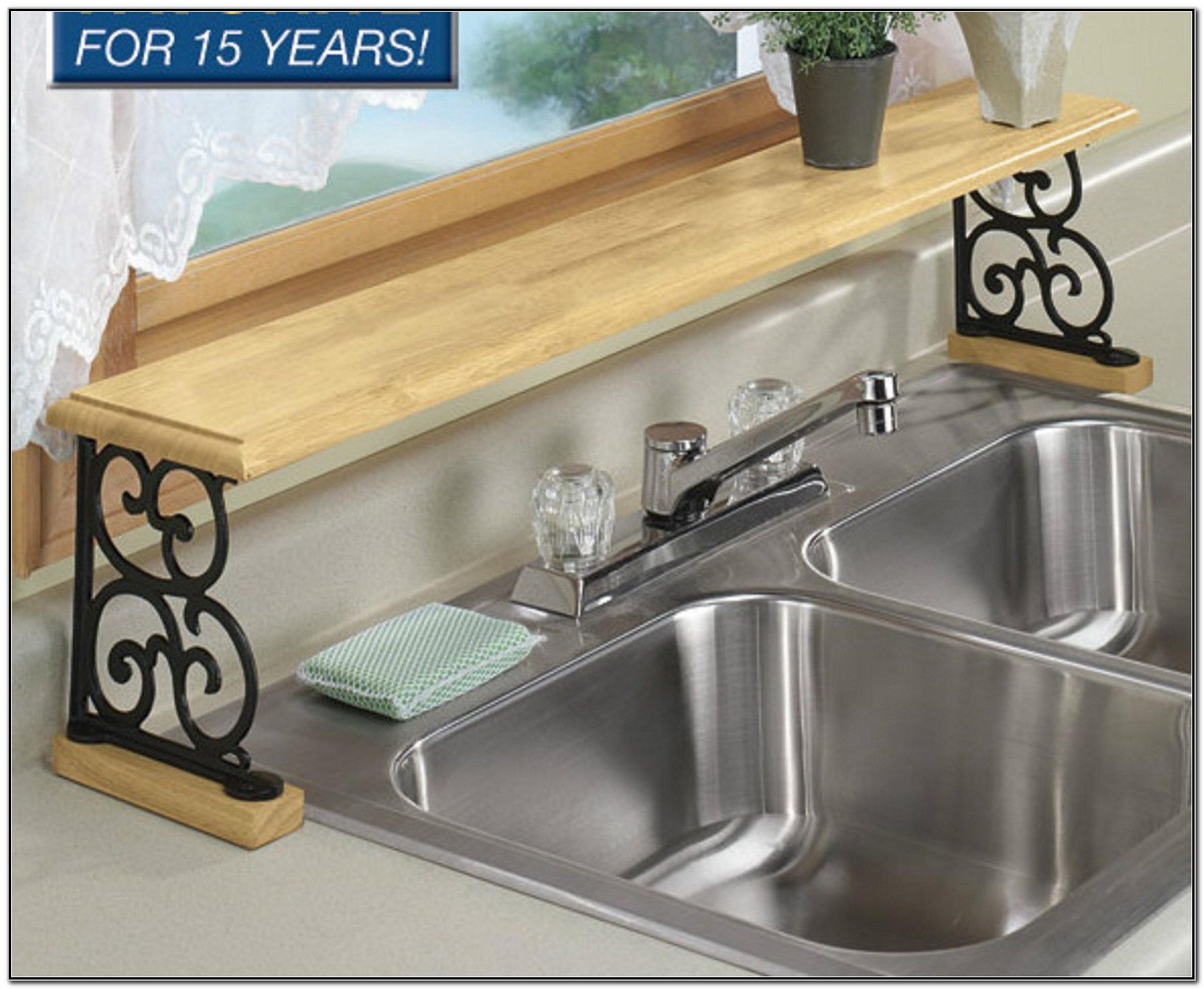 Over Kitchen Sink Shelf Organizer