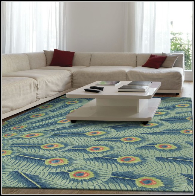 Peacock Inspired Area Rugs