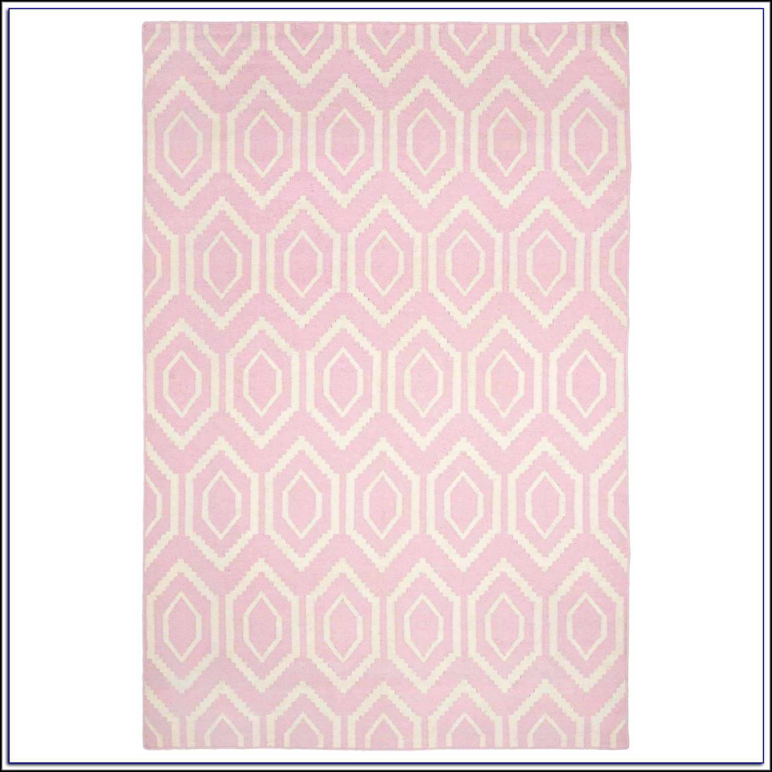 Pink And Ivory Area Rug