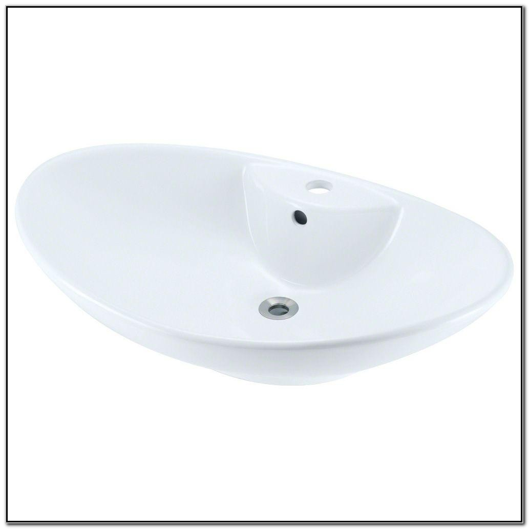 Polaris White Porcelain Vessel Sink
