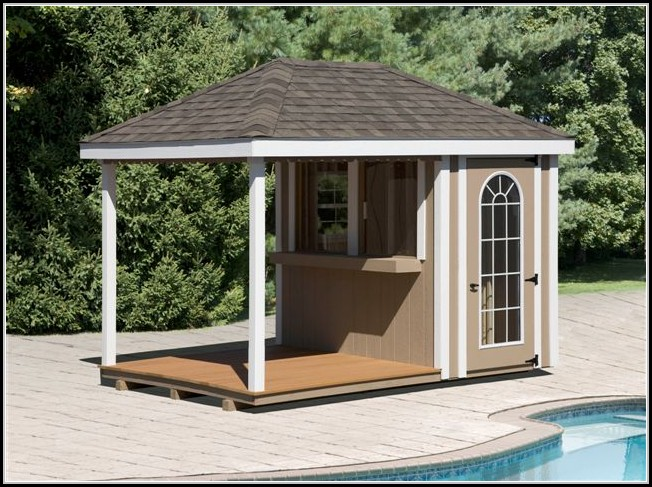 Pool Sheds With Bars