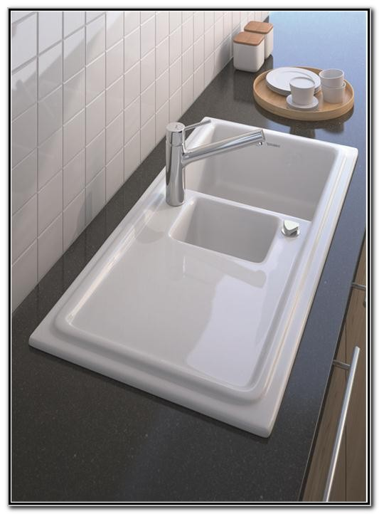 Porcelain Sink With Drainboard