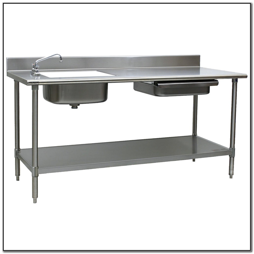 Prep Table With Sink