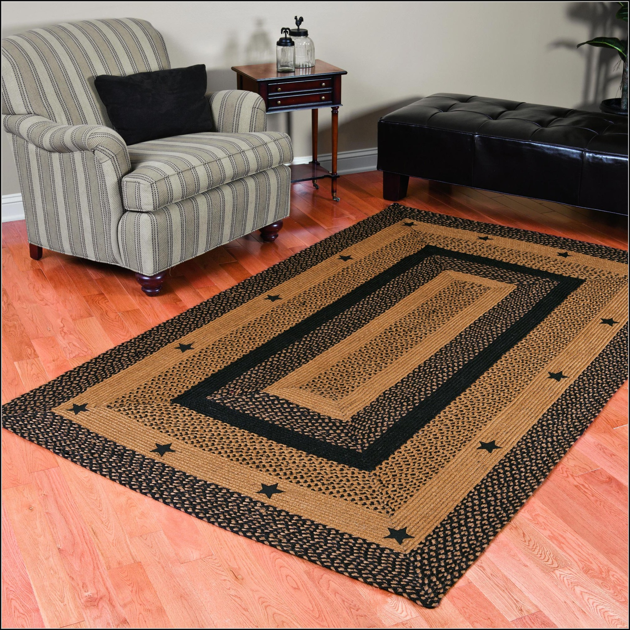 Primitive Star Area Rugs