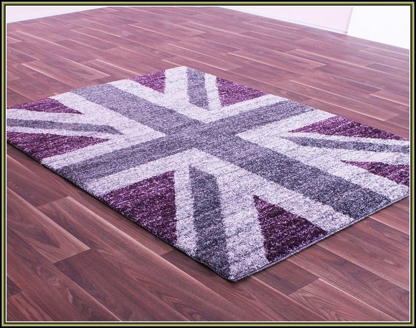 Purple Union Jack Rug