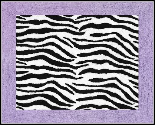 Purple Zebra Print Rug