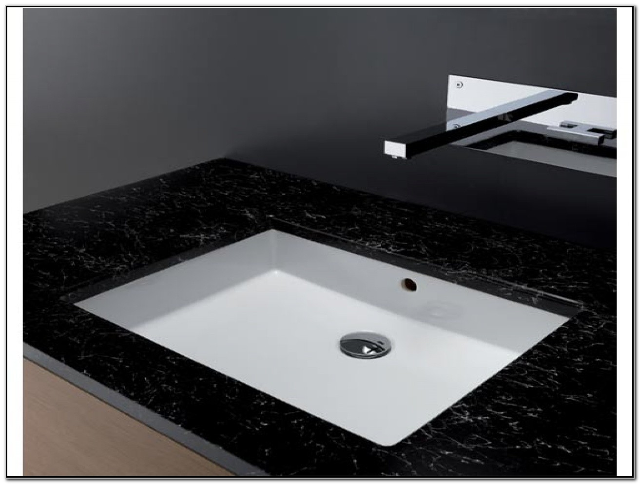Rectangular Undermount Bathroom Sink White